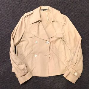 Theory cropped trench jacket